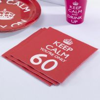 Keep Calm You're Only 60 Napkins (20)